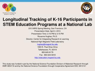 Longitudinal Tracking of K-16 Participants in STEM Education Programs at a National Lab