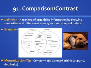 91 . Comparison/Contrast