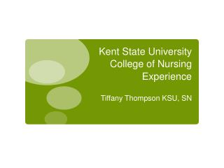 Kent State University College of Nursing Experience