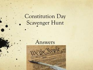 Constitution Day Scavenger Hunt Answers