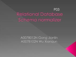 Relational Database Schema normalizer