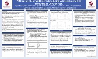 Patterns of chest wall kinematics during volitional pursed-lip breathing in COPD  at  rest.