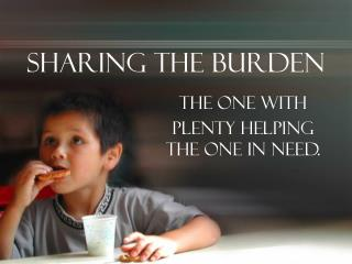 Sharing the Burden