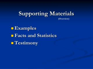 Supporting Materials