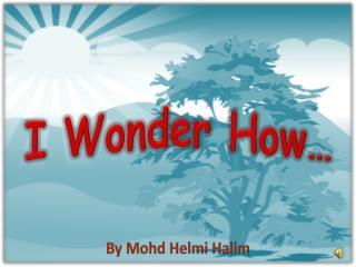 I Wonder How…