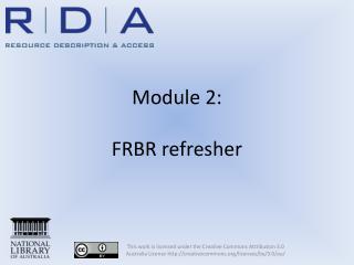 Module 2:  FRBR refresher