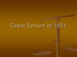 Great  Schism of 1054