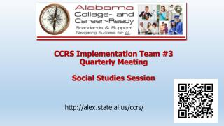 CCRS Implementation Team #3  Quarterly Meeting Social  Studies Session