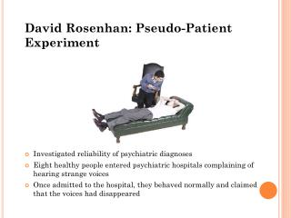 David Rosenhan: Pseudo-Patient Experiment