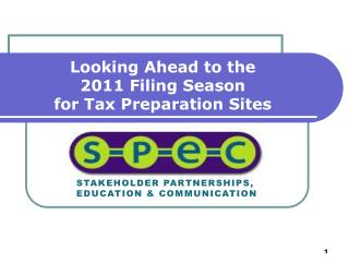Looking Ahead to the  2011 Filing Season  for Tax Preparation Sites