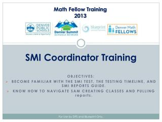 SMI Coordinator Training