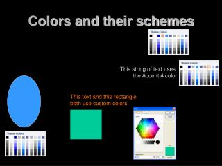 Colors and their schemes