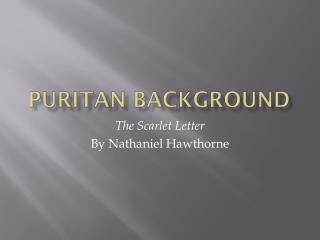 Puritan Background