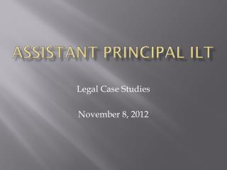 Assistant Principal ILT