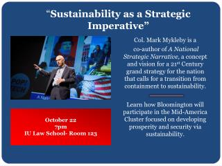 """"""" Sustainability as a Strategic Imperative"""""""
