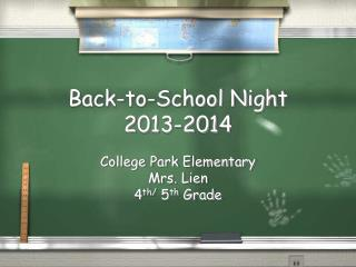 Back-to-School Night  2013-2014