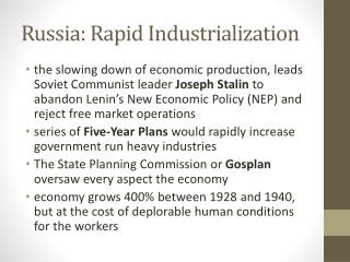 Russia: Rapid Industrialization