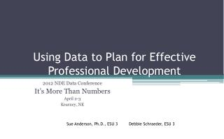 Using Data to Plan for Effective Professional Development