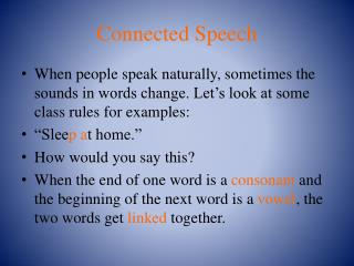 Connected Speech