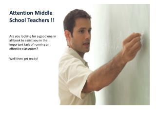 Attention Middle School Teachers !!