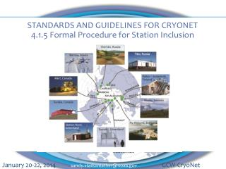 STANDARDS AND GUIDELINES FOR CRYONET 4.1.5 Formal Procedure for Station Inclusion