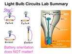 Light Bulb Circuits Lab Summary