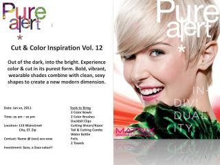 Cut & Color Inspiration Vol. 12