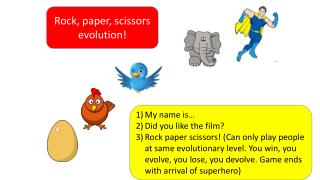 Rock, paper, scissors evolution!