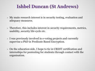 Ishbel Duncan (St Andrews)