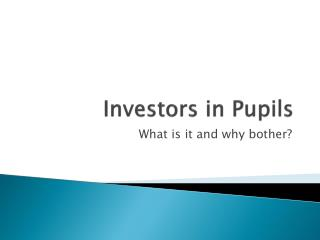Investors in Pupils