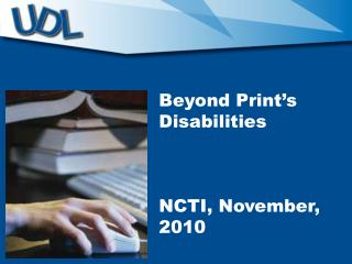 Beyond Print's Disabilities NCTI, November,  2010
