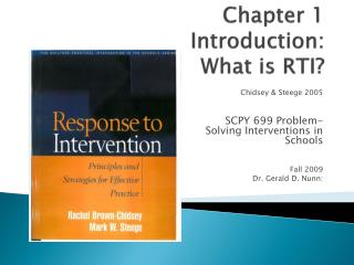 Chapter 1 Introduction:  What is RTI?