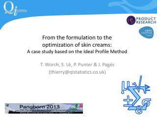 T. Worch, S.  L� , P. Punter & J.  Pag�s (thierry@qistatistics.co.uk)