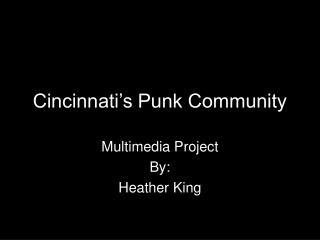 Cincinnati's Punk Community