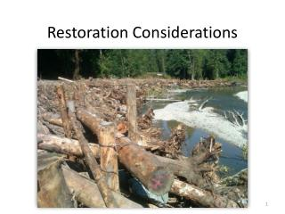 Restoration Considerations