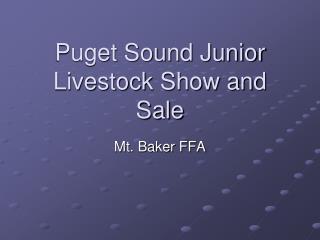 Puget Sound Junior Livestock Show and Sale
