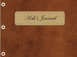 Kak's  Journal