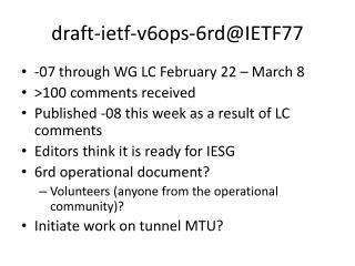 d raft-ietf-v6ops-6rd@IETF77