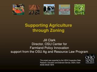 Supporting Agriculture