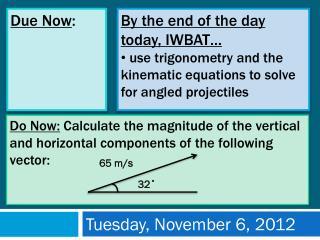 Tuesday, November 6, 2012