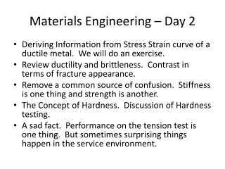 Materials Engineering   Day 2