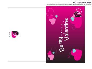 Be My Valentine Personalised Card