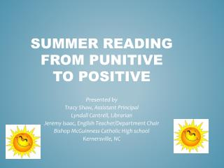 Summer Reading From Punitive To Positive