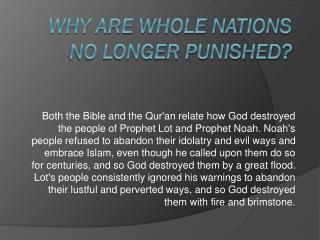 Why Are Whole Nations No Longer Punished?
