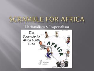 Scramble for  A frica