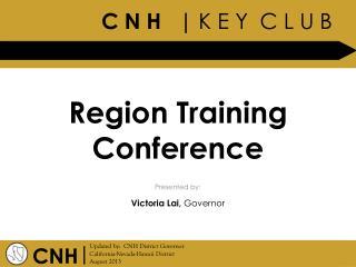Region Training Conference
