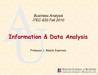 Business Analysis  ITEC 630  Fall 2010