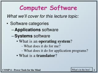 Computer Software