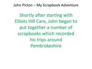 John Picton � My Scrapbook Adventure