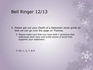 Bell Ringer 12/13